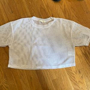 Urban outfitters mesh cropped tee.